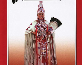 Missouri River Plains Indian Buckskin Dress Sewing Pattern sizes 6-20 Native American