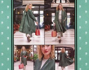 Folkwear 254 Swing Coat w/Back Yoke & Pleat sizes XS-XL Easy Sewing Pattern