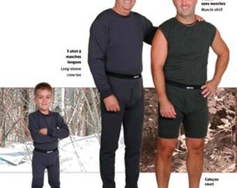 Jalie 2328 Men's & Boys' Underwear Sewing Pattern - Muscle Shirt, Long-sleeve Crew Tee, Boxer Briefs, Long Johns