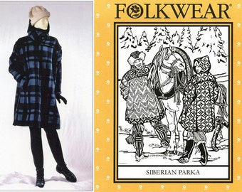 Folkwear Siberian Parka Sewing Pattern # 153 - Extra-Roomy, Easy to Sew sizes XS-XL