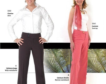 Jalie 2561 Women's & Girls' Pants Sewing Pattern in 27 Sizes Narrow or Wide Waistband