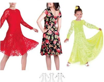 Jalie Fit & Flare Dance and Everyday Dress in 2 Lengths Sewing Pattern 3460 Bella - 22 Sizes Women and Girls