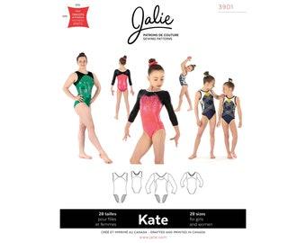 Jalie Kate Gymnastics Leotards Sewing Pattern # 3901 in 28 sizes - Women's XS-2XL & Girls 2-13