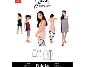 Jalie Nikita Workout Tank & Swing Dress Sewing Pattern # 3902 Women's XS-2XL and Girls 2-13