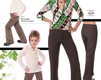 Jalie Classic Trousers / Pants Sewing Pattern #2909 in 27 Sizes Women & Girls
