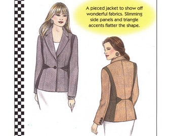 Dana Marie Pieced Jacket Sewing Pattern # 1056 sizes XS-5XL Angles and Ohs!