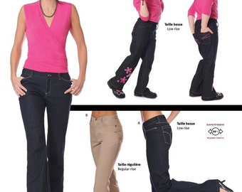 Jalie Low and Regular Rise Stretch Jeans Sewing Pattern # 2908 in 27 Sizes Women & Girls