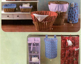 Simplicity 4631 Nursery Storage Organizers - Hamper, Basket Liner, Laundry Basket Liner & Diaper Disposer Cover Sewing Pattern