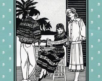 Folkwear Seminole Indian Men & Women Blouson Jacket and Skirt Sewing Pattern #127