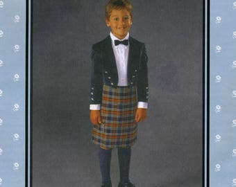 Folkwear Child's Scottish Kilt & Prince Charlie Jacket Sewing Pattern # 154 Boy's sizes 4-14
