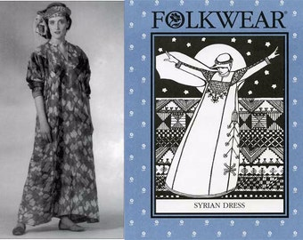 Folkwear Syrian Dress sizes S-M-L Sewing Pattern # 105