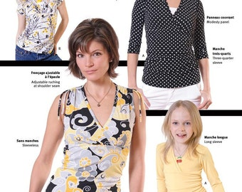 Jalie Empire Crossover Top Sewing Pattern # 2804 in 27 Sizes for Women & Girls