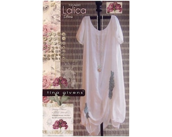 Tina Givens Lalica Dress with Drawstring Sides sizes XS-3X Sewing Pattern #TG-A6040