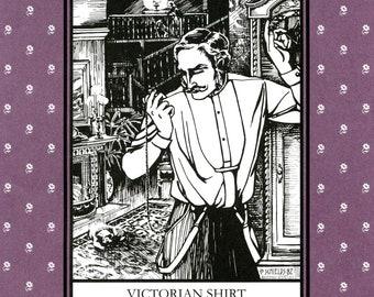 Folkwear Victorian Shirt, Tunic, Overshirt or Nightshirt Sewing Pattern # 202 Men's & Women's sizes XS-XL