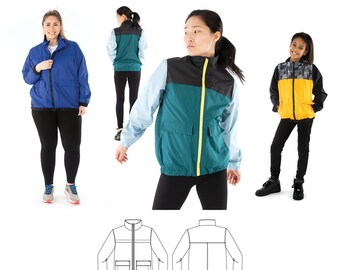 Jalie 4012 Maxime Three Season Jacket Sewing Pattern in 28 Sizes for Women & Girls