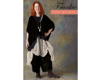Tina Givens Frankie Crop TOp & Wide Legged Pants sizes XS-2X Sewing Pattern # 7059