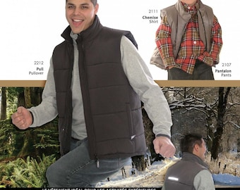 Jalie 2451 Men's & Boy's Insulated Vest Sewing Pattern in 27 sizes