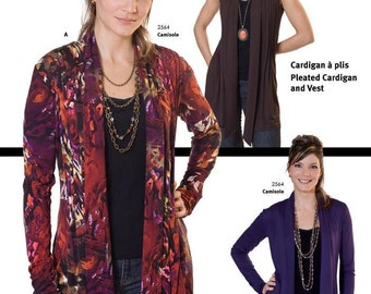Jalie Women's & Girls Pleated Cardigan and Vest Sewing Pattern # 2919 in 27 Sizes