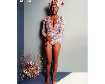 The Seabright Swimmer XS-4X One Piece Swimsuit - Friday Pattern Company Sewing Pattern # 021