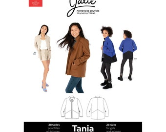 Jalie Tania Cardi-Blazer Coatigan Sewing Pattern 3906 Women's XS-2XL & Girls' 2-13