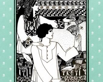 Folkwear Egyptian Shirt, Long Galabia (Man's Robe) Sewing Pattern #104 Men or Women Caftan