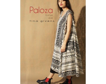 Tina Givens Paloza Asymmetrical Dress or Sundress sizes XS-2X Sewing Pattern # TG-A7164