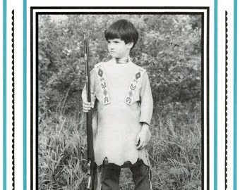 Boy's Native American Indian War Shirt sizes S-L Eagle's View Sewing Pattern #65