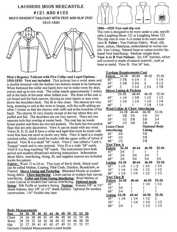 Herren Regency Frack mit Slip Weste & Weste Größen 34-56 | Etsy