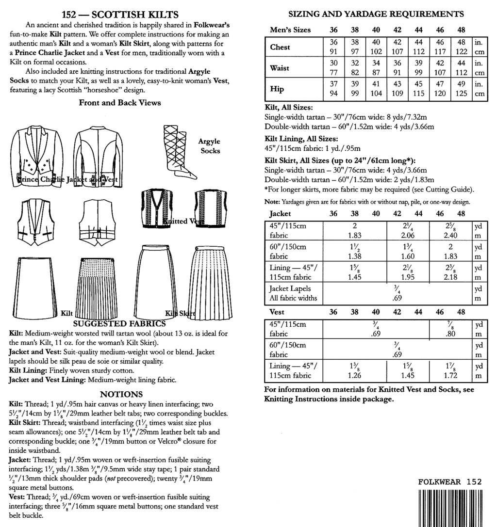Kilt Sewing Pattern Magnificent Decorating Ideas
