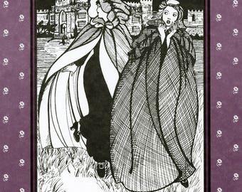 Folkwear Irish Kinsale Cloak - Men's & Women's Ankle Length Cape Sewing Pattern # 207