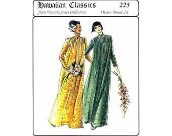 Traditional Hawaiian Muumuu With Front Tucks size S-2X Victoria Jones Sewing Pattern # 225