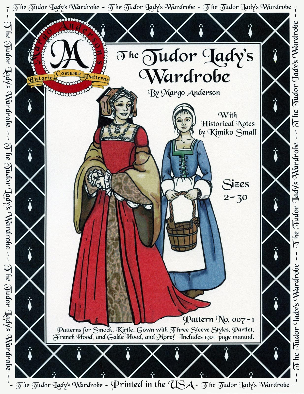 Tudor Lady's Wardrobe Gown, Cap, Smock, Apron Costume