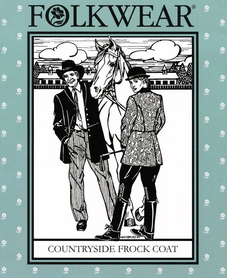 Vintage Western Wear Clothing, Outfit Ideas     Folkwear Countryside Frock Coat Sewing Pattern # 263 Women XS-XL Men S-XXL Traditional Historic Military or Western Reenactment $19.95 AT vintagedancer.com