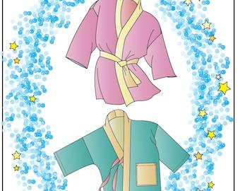 "Child's Hanten Jacket sizes 1-12 + Pattern for Hanten for 18"" Doll or Sock Monkey - Victoria Jones Sewing Pattern # 240"