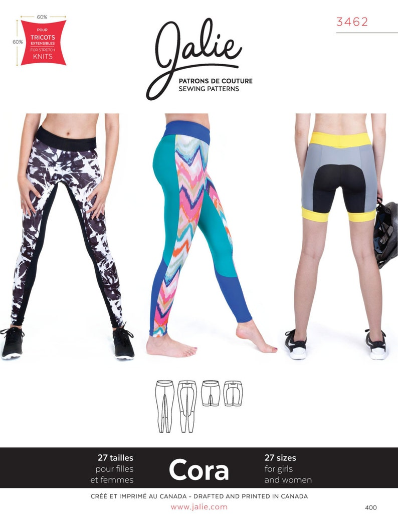400ccd8f29fb Jalie Running Tights Leggings & Shorts Sewing Pattern 3462 | Etsy