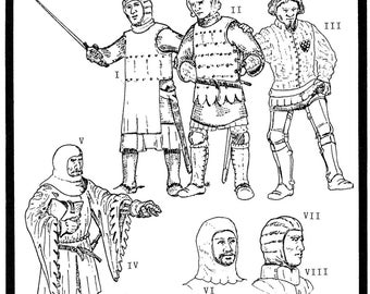 Period Patterns Medieval Military Garments Sewing Pattern # 102 size S-XL