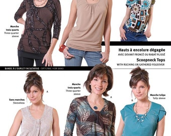 Jalie Scoopneck Top Sewing Pattern # 2806 in 27 Sizes for Women & Girls