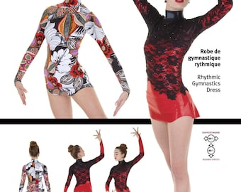 Jalie Rhythmic Gymnastics Dress w/Attached Briefs Sewing Pattern #3356 in 22 Sizes for Women & Girls