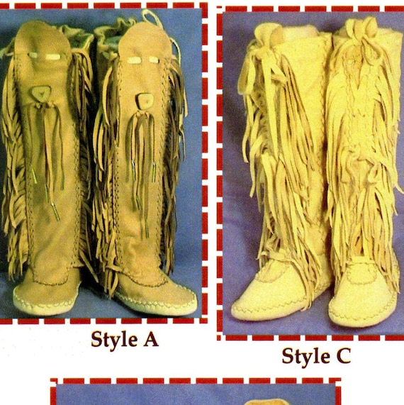 Native American Shawnee Indian Moccasin Sewing Pattern Etsy