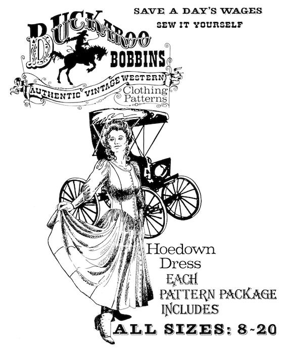 Ladies Hoedown Dress Sizes 8 20 Classic Western Style Etsy