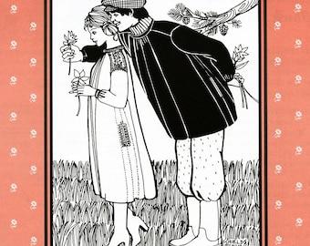 Folkwear Black Forest Smock Men's Shirt 36-44 or Women's Dress 6-16  Sewing Pattern # 148