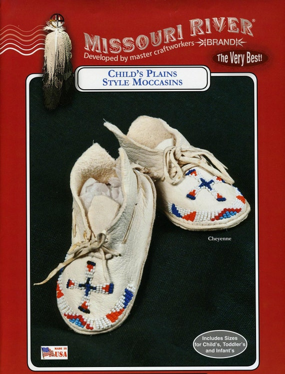 Missouri River Plains Style Indian Moccasin Sewing Pattern Etsy