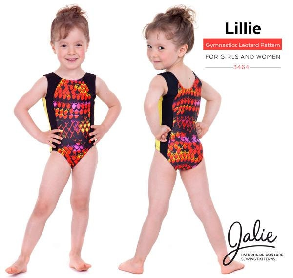 Jalie Princess Seam Gymnastics Leotards Sewing Pattern 3464 Lillie