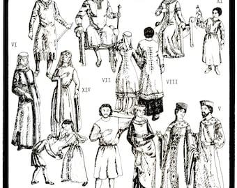 Period Patterns Tunics c. 650-1310 A.D. Men, Women, Child Sizes Sewing Pattern # 16
