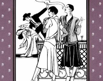 Folkwear Tango Dress Retro 1920s Day/Evening Wear Sewing Pattern 237 & Knitted Cardigan Sweater