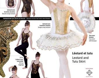 Jalie Ballet or Dance Leotard & Pull-on Tutu Skirt Sewing Pattern #2915 Misses and Girls