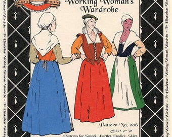Elizabethan Working Woman's Wardrobe sizes 2-30 Margo Anderson Sewing Pattern # 006