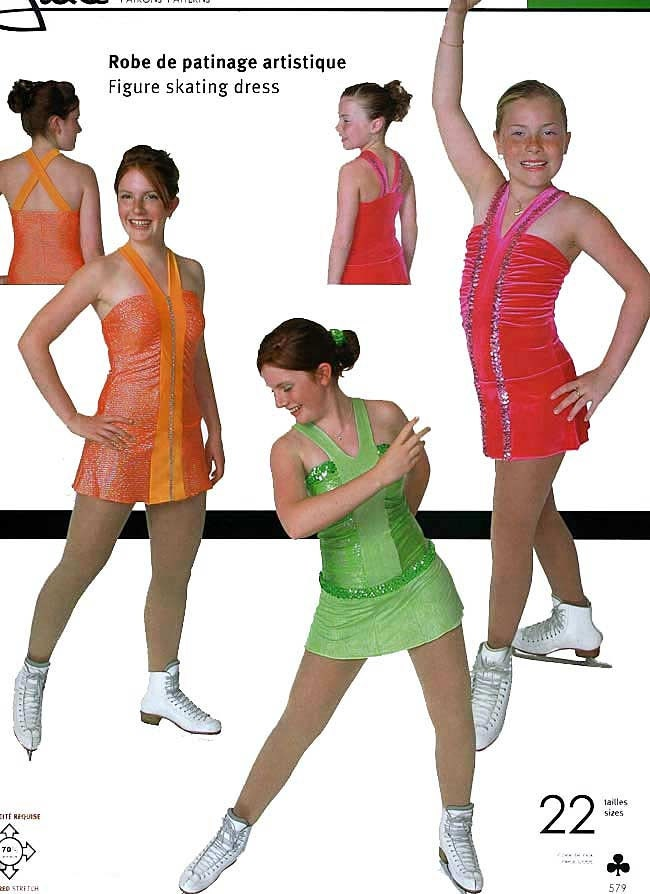 Jalie Freestyle Dance Figure Skating Dress w//Skirt Options Sewing Pattern 2917
