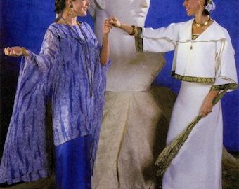 Folkwear Greek Island Dress - Loose-fitting Sheath Dress, Tunic & Jacket Sewing Pattern # 266 sizes XS-XL