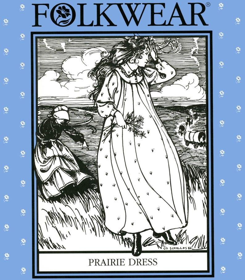 Folkwear Prairie Dress & Apron Sewing Pattern 201 Historic image 0